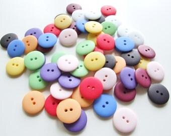 20mm Rainbow Matt Button Collection [B0748]
