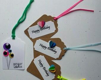 Happy birthday gift tags 5pk