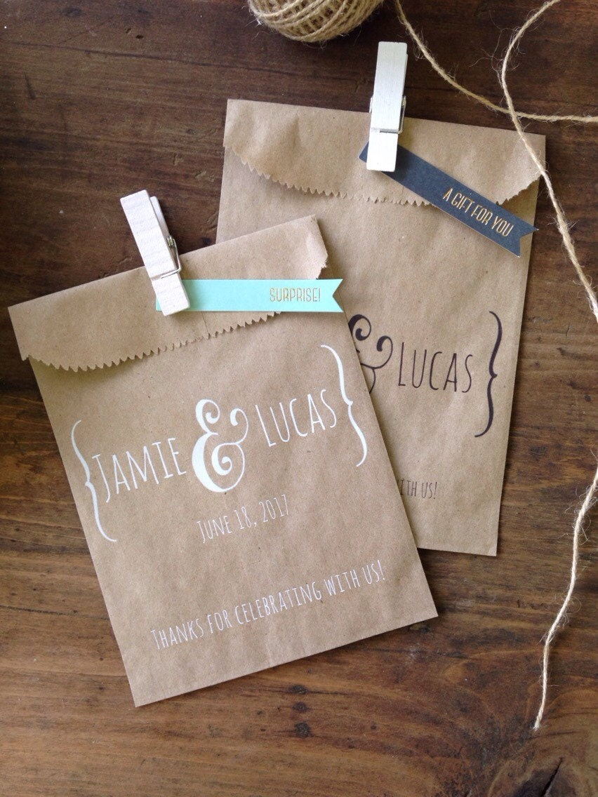 Wedding favor bags wedding favors personalized cookie buffet for Wedding favor gift bags