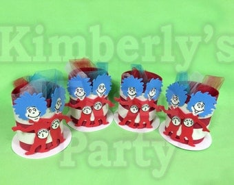 4 Thing 1 and Thing 2 Foam Centerpieces