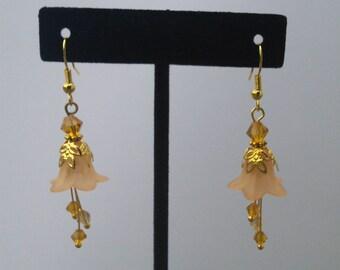 Beaded Flower Earrings