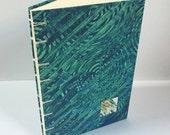 Blue-Green Coptic Stitch Sketchbook