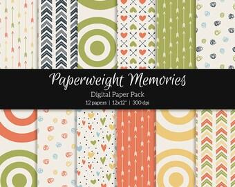"""Digital patterned paper - Vintage Model -  digital scrapbooking - scrapbook paper - 12x12"""" 300dpi  - Commercial Use"""
