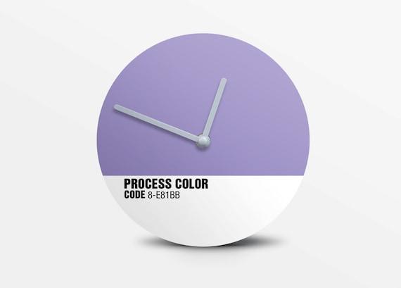 Hey Fishy - Lavender herb Wall clock ( Pantone Style Designer Clock)
