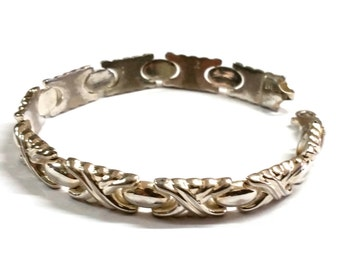Vintage Sterling Silver Italy Huggs and Kisses Bracelet