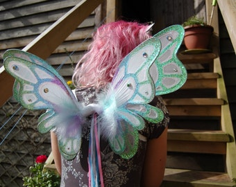 Large double panel pastel fairy pixie wings