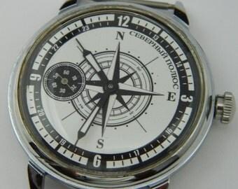 USSR Russian watch MOLNIJA Molnia North Pole #813S