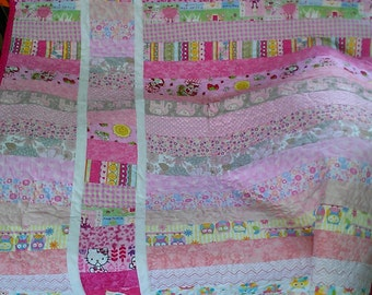 Pink Striped Quilt