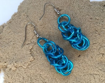 Blue Byzantine Dangle Earrings