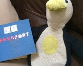Custom Knitted Penguin Stuffed Animal
