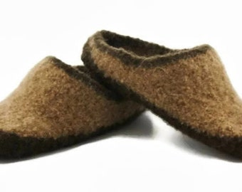 Mens MADE TO ORDER felted wool slippers