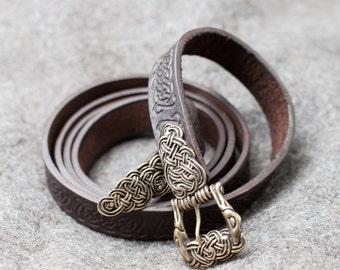 """20% DISCOUNT! Leather belt """"Ingrid""""; Handmade belt; Medieval Style Belt; Unisex Belt;"""