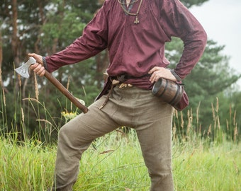 20% DISCOUNT! Men's Linen Pants; Medieval Pants; Handmade Pants; Viking Pants
