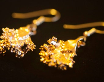 Gold Kale Earrings
