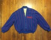 New York Giants cardigan zip sweater vintage sport Cliff Engle L -XL  vintage jacketsweater