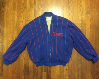 New York Giants cardigan zip sweater vintage sport Cliff Engle L -XL  vintage jacketsweater