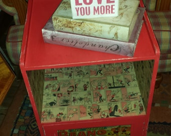Upcycled, Beano Decoupaged Bedside Cabinet