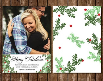 Classic Pine Christmas Photo Card