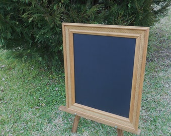 Vintage Oak Framed Chalkboard-Oak Framed Chalkboard-Framed Message Board -24.5 x 20.5 Framed Chalkboard - Basket Weave Oak Frame Chalkboard