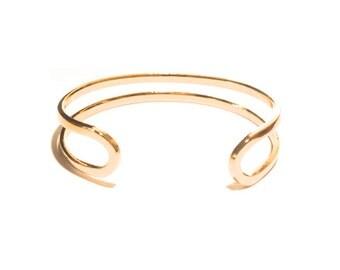 1 Gold Cuff, 17 mm wide, Bracelet, Bangle, Gold Cuff