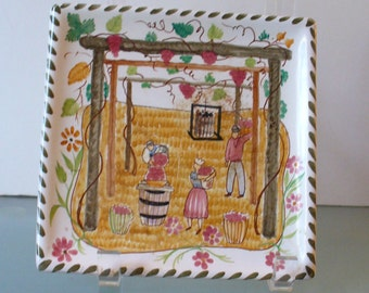 Vintage Made in Italy Ceramic Plate October
