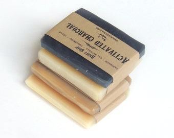 Soap Sample - Natural soap, Sampler soap set, vegan soap, unscented soap, Artisan Saop, Homemade Soap