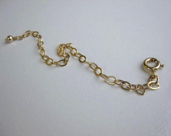 ADD ON necklace Extender Gold, 14kt gold filled extender, gold necklace extender, extender gold