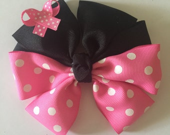Disney Minnie Mouse inspired hair bow
