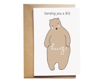 Sending you a Big Bear Hug Card