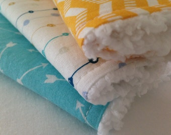 Baby Burp Cloths Set of Three