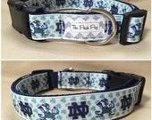 "Handmade Fighting Irish Fan 1"" Adjustable Dog Collar"