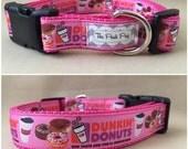 "Handmade Donut Dog 1"" Adjustable Dog Collar"