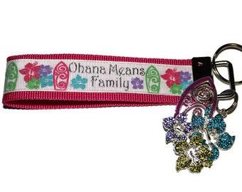 Ohana key chain/ Ohana means family.  Country Sass ribbon quote key chains/ key fobs/ key keeper.