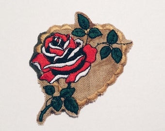 Heart Rose patch
