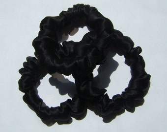 Silk Hair Scrunchies, 3 for 18.00