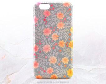 iPhone 7 Case Orange Floral iPhone 7 Plus Case iPhone 6s Case iPhone SE Case iPhone 6 Case iPhone 5S Case Galaxy S7 Case Galaxy S6 Case T176