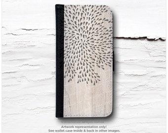 iPhone 6S Case Wallet, iPhone 6 Wallet Case Wood Print, iPhone 6s Case Floral, Wood iPhone 6 Wallet Case, iPhone 6S Flip Wallet Case T103