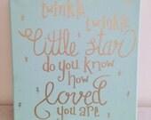 Twinkle Twinkle Little Star Nursery Decor Sign