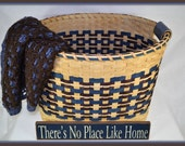 Elise - Large Gathering Basket in Turquoise and Brown