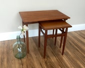 Mid Century - Modern End Tables - Small Side Tables - Vintage Furniture - Danish Modern - Small End Tables