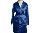 Royal Satin Robe, Personalized Wedding Robe, Bridesmaid Robes, Bridesmaid Gifts, Kimono Robe, Wedding Satin Robe, Gray Robes, Rhinestones