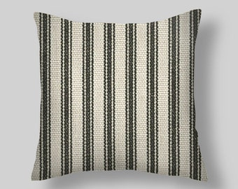 Black  Ticking Pillow Covers