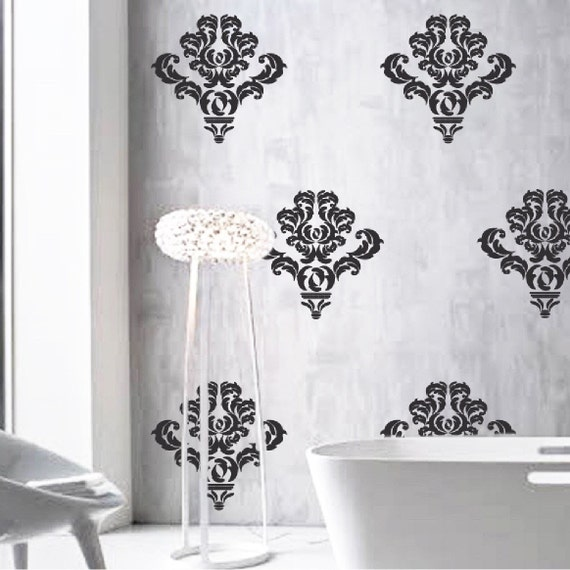 damask wall accent stickers wall mask decals damask style damask wall accent stickers damask wallpaper damak