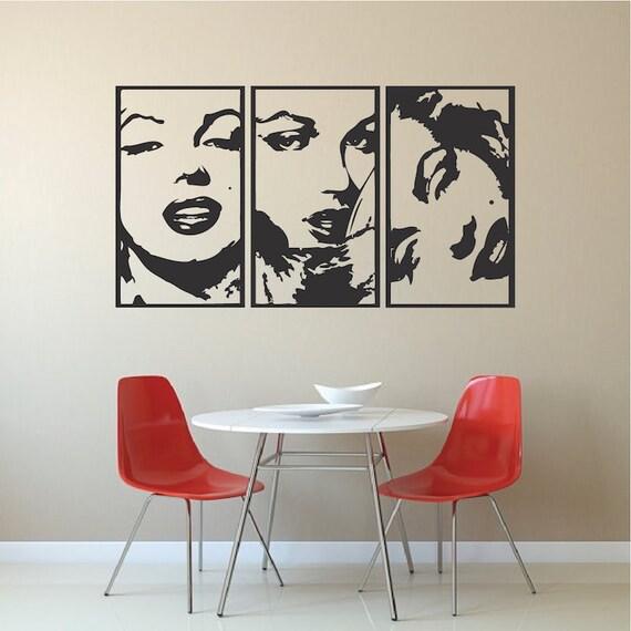 marilyn panel wall decal marilyn vinyl marilyn