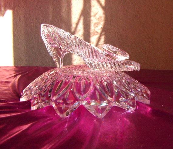Reserved for g cinderella glass slipper with oleg cassini
