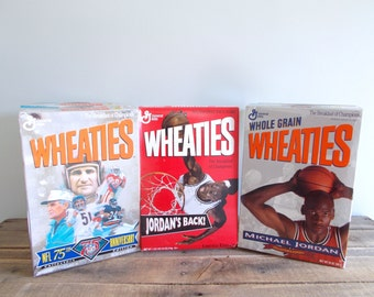 Wheaties Sports Cereal Boxes Collection of Six