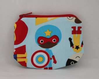 Little Zipper pouch, coin purse my superhero