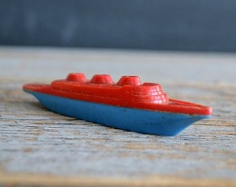Vintage Plastic Boat Whistle | Toy Ship | Celluloid Toy | Boating Toy | Advertising Collectible | Toy Whistle