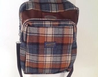 Vintage PENDLETON Plaid Backpack