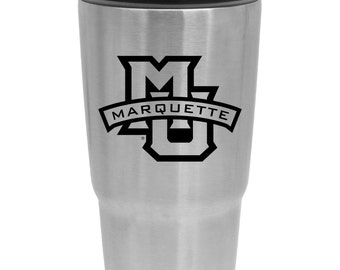 Marquette University Vacuum Insulated Beverage Tumbler 30 oz Stainless Steel